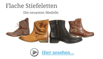 sneakers for cheap ca66a 127d1 Flache Stiefeletten für Damen in schwarz & braun