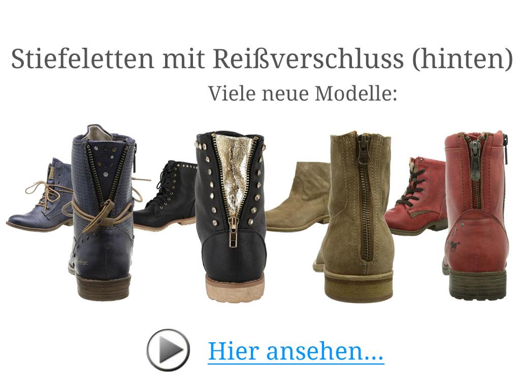 new concept 5eeb0 01a98 Stiefeletten mit Reißverschluss hinten: Schöner Eyecatcher!
