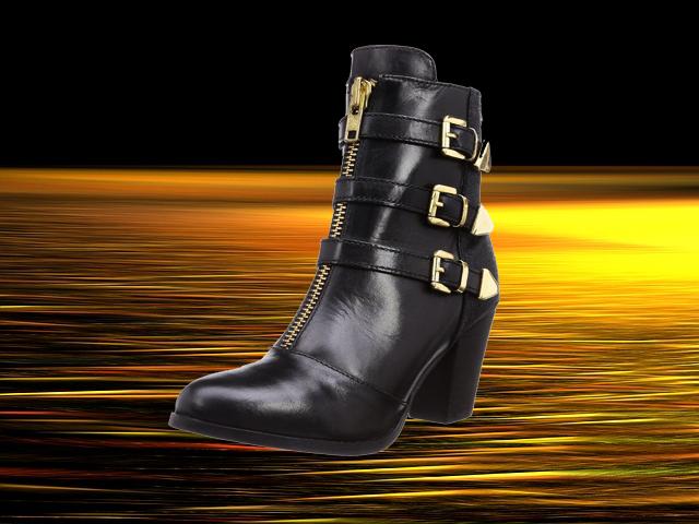 schwarz-goldene-stiefeletten