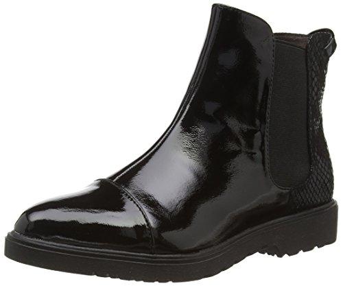 97236b3fea57f2 Tamaris Cloris Chelsea Boots schwarz in Lack-Optik 25057
