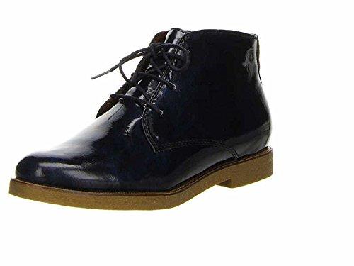 tamaris vanni stiefelette chukka boots damen blau lack. Black Bedroom Furniture Sets. Home Design Ideas