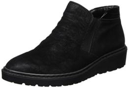 Jenny Portland Chelsea Boots mit Keilabsatz Schwarz 22-60027 - 1