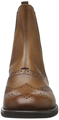 sale retailer 761f8 ee68a Vagabond Amina 4203-001 Chelsea Boots Budapester Braun mit Brogue-Muster