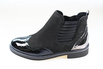 paul-green-8012-048-chelsea-boots-schwarz-gold