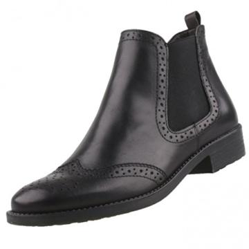 buy popular 90cd2 92051 Tamaris Taina 25493-29 Chelsea Boots, Schwarz mit Budapester-Muster