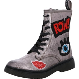 tamaris-druand-25739-military-boots-silber-mit-aufnaehern