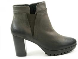 SPM Lederstiefelette Ankle-Boots Grau
